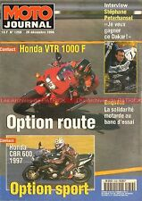 MOTO JOURNAL 1259 Essai Road Test HONDA VTR 1000 F CBR 600 LAVERDA Zane Factory