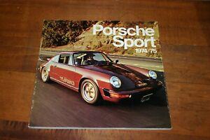 PORSCHE SPORT 1974/75 EDITED BY JOE RUSZ HOLBERT GREGG HAYWOOD CAN AM 911 914