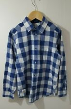 Lacoste Boys 100% Cotton LS Shirt Age 8 Years -  Blue/White Check