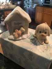 Precious Moments Sugar Town 1994 Sugar & Her Doghouse Figurine #533165 Enesco