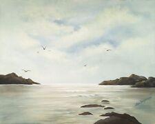 """Beach and Birds"" is a 16""x 20"" high quality original oil print, unframed."