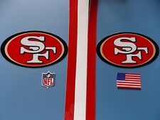 San Francisco 49ers Niners football helmet decals set