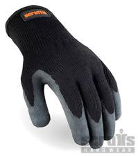 SCRUFFS Utility Latex-Coated Gloves Black
