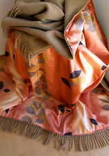 wendeplaid lana cuadros manta de lana chaleco 100% Lana + Algodón Satén 155x200
