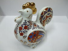 JAPANESE IMARI ROOSTER / HEN / COCKREL PAPERWEIGHT (90) - BNIB - RRP £29.95