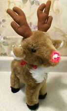 Rudolph Red-Nosed Reindeer Musical Song Light Up Nose Music Loud