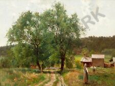 """PAINTING MUNSTERHJELM SUMMER DAY IN COUTRYSIDE 12x16 """" POSTER ART PRINT HP3392"""