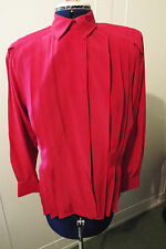 OPTIONS AT AUSTIN REED FUSCHIA PINK SILK BLOUSE - SIZE 8