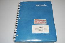 Instruction manual / service for Tektronix 2213 Oscilloscope