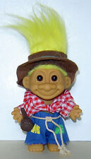 """RUSS  4"""" TROLL DOLL HILLBILLY COMPLETE OUTFIT WITH PIPE & HAT, RUSS STICKER"""