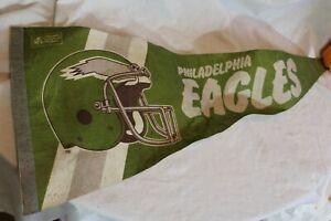 """VINTAGE 1980s Philadelphia Eagles  Pennant NFL 29"""" Felt"""