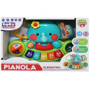 Pianola Elefantino Gioco Giocattolo Per Bambini Neonati da 6+ Mesi sar