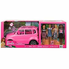 Barbie 'FRIENDS ROAD TRIP' Moving SUV With Multi Racial Friends And Accessories