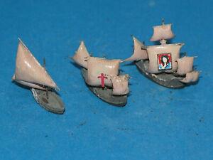 1 : 1250 3 Segelschiffe Santa Maria, Pinta und Nina von Mercator