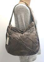 COCCINELLE Leder Hobo Bag Purse Tasche  Sac Taupe gerafftes Design Shopper Borsa