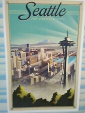 NEW  POST CARD SPACE NEEDLE  MT.RAINIER SEATTLE WASHINGTON