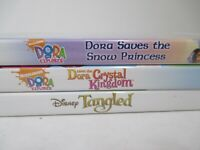 Dora Explorer Crystal Kingdom + Snow Princess + Tangled - Nintendo Wii Lot of 3