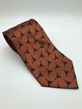 Varsity Vests UT Texas Longhorns Burnt Orange Men's Neck Tie 100% Silk
