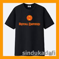 Royal Enfield Motorcycle Retro Racing Logo Men's Black T-Shirt S M L XL 2XL