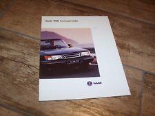 Catalogue / Brochure SAAB 900 Convertible 1993 //