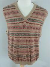 Lyle & Scott Mens XL 100% Combed Cotton Tribal Pattern Vest EUC