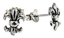 Fleur de Lis arete 925 plata aretes oreja par precio Sterling plata nº 43