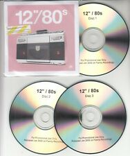 "12""/80s 2005 UK 36-track promo test 3-CD Jam Cure ABC Japan Visage Pet Shop Boys"