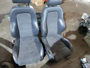AUDI TT MK1 FRONT HALF LEATHER HEATED SEATS BLACK 98/05