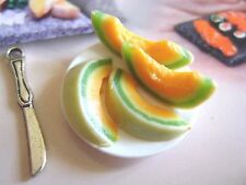 *1 miniature dolls house food lemon platter maison de poupée Dolls house fimo^