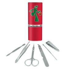 Sporty Gumby Basketball Player Clay Art Manicure Pedicure Grooming Travel Kit