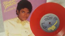 MICHAEL JACKSON  ROCK WITH YOU /GET ON THE FLOOR (RED VINYL)    45 RPM RECORD