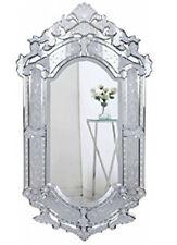 Elegant Handmade Venetian Wall Mirror in Clear Finish