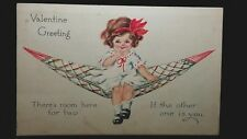 Vintage Valentine Post Card Gibson Art Co There'S Room Here For Two If The Other