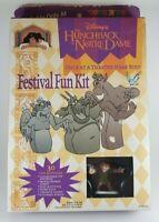 Vintage Disney' Hunchback Of Notre Dame Festival Fun Kit w/ Figure Toy Sealed