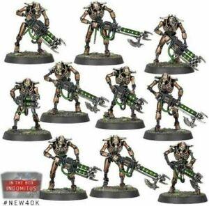 Necron Warriors 10 models Warhammer 40,000 New on Sprue