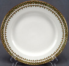 Theodore Haviland Limoges Green & Gold Scrollwork Dinner Plate Circa 1904 - 1927