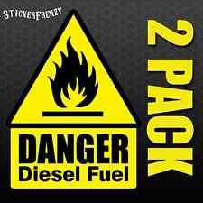 DANGER DIESEL FUEL 2 Pack Sticker #FE015 - Laminated OSHA LABEL DECAL SAFETY