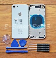 ALLOY METAL COMPLETE HOUSING GLASS BATTERY COVER REPLACEMENT FOR iPhone 8 WHITE