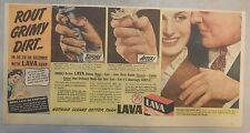 Lava Soap Ad: Route Grimy Dirt With Lava Soap ! 1940's