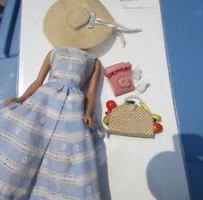 Vintage Barbie Doll Suburban Shopper Outfit T.M 1959 Has Phone Metal Dial #969