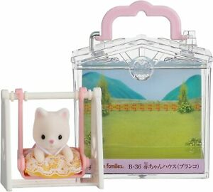 Sylvanian Families Calico Critters Baby House Swing Silk Cat B-36