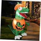 6 ft Inflatable Dinosaur Trick Or Treat Halloween Inflatable Yard Decoration