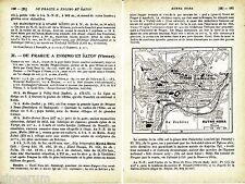 Kutná Hora 1937 kl. Stadtplan + frz. Reisef. (4 S) Vlašský dvůr Ste-Barbe Sedlec