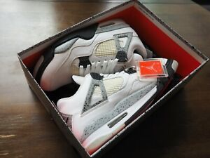 """Nike Air Jordan 4 Retro """"White Cement"""" 2016 Size 10 Great Condition with Recipt!"""