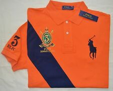 New XXL 2XL POLO RALPH LAUREN Men's Big Pony polo shirt Orange classic fit RL
