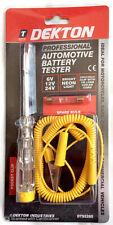 DEKTON PROFESSIONAL AUTOMOTIVE BATTERY TESTER 6-12-24 VOLT CAR VAN TRUCK