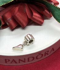 PANDORA CHARM SILVER HANGING TRAINER CONVERSE RARE RETIRED # 790350 Genuine