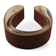 2 X 48 Inch 80 Grit Flexible Aluminum Oxide Multipurpose Sanding Belts, 6 Pack