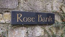 ENGRAVED SLATE HOUSE DOOR NAME PLAQUE/PLATE/NUMBER/SIGN