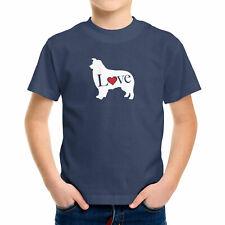 Love Australian Shepherd Dog Toddler Kids Tee T-Shirt Gift Doggy Shiloh Shepherd